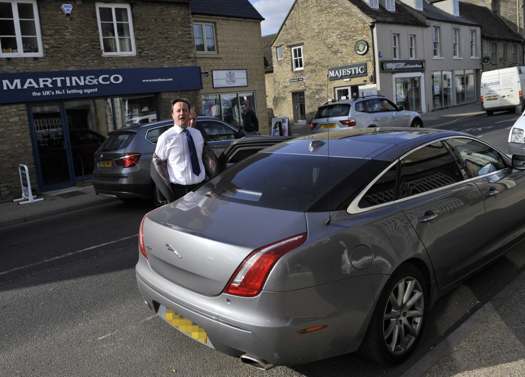 Cameron ignores parking restrictions