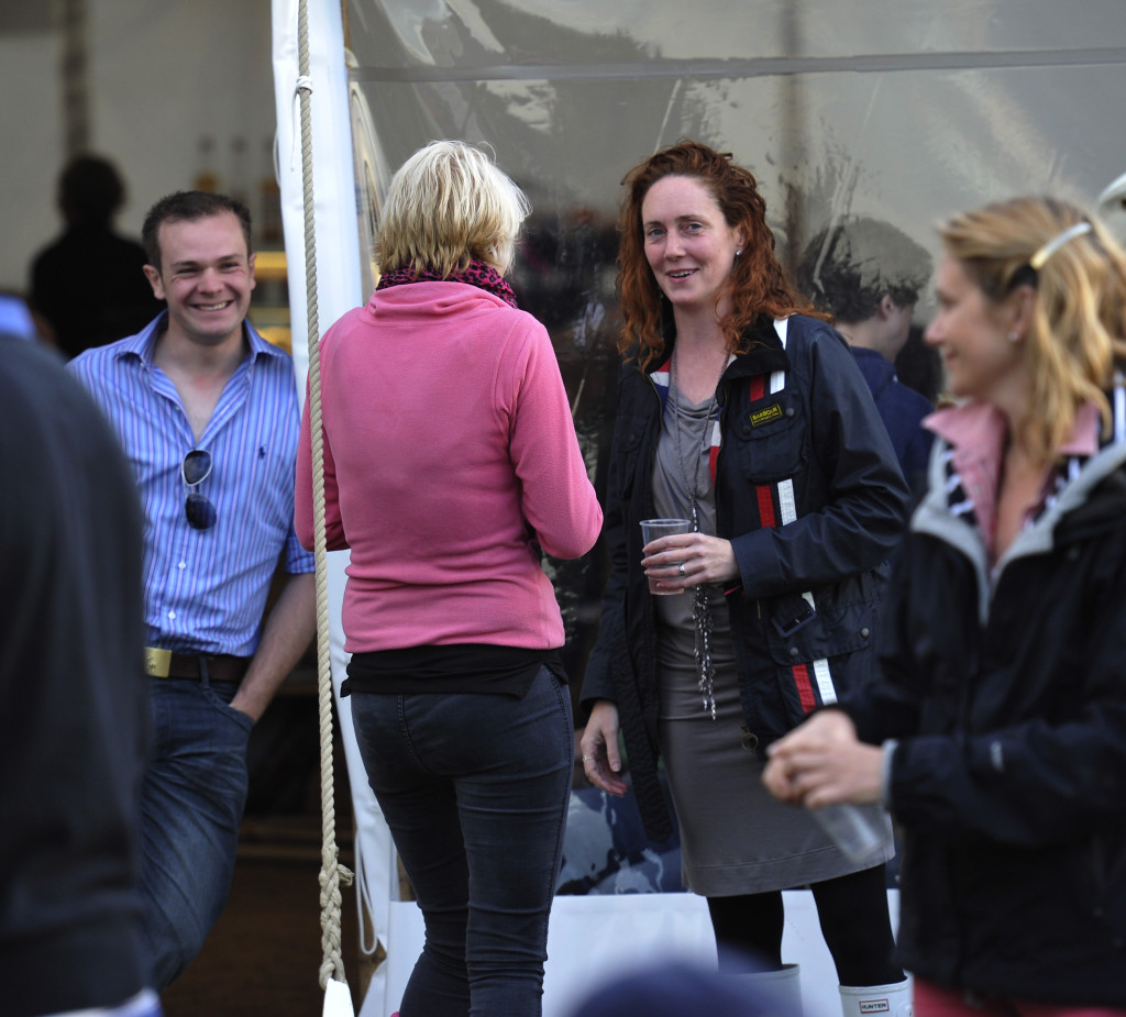 Former News of the World editor Rebekah Brooks at the Cornbury Music festival, Oxfordshire