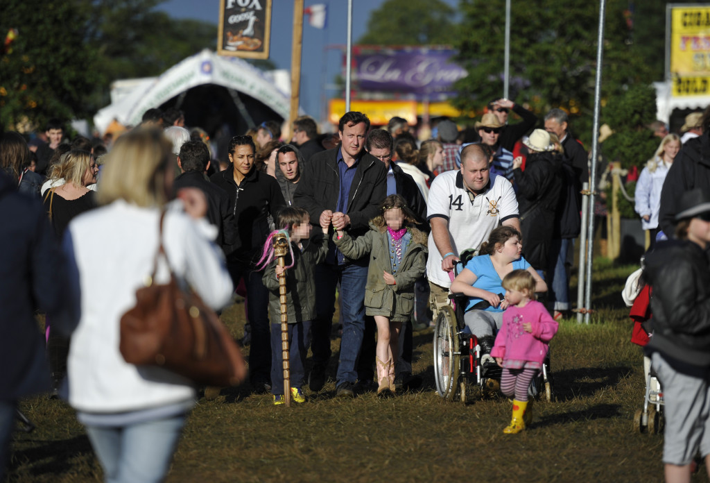 Prime Minister David Cameron and wife Samantha at the Cornbury Music festival, Oxfordshire
