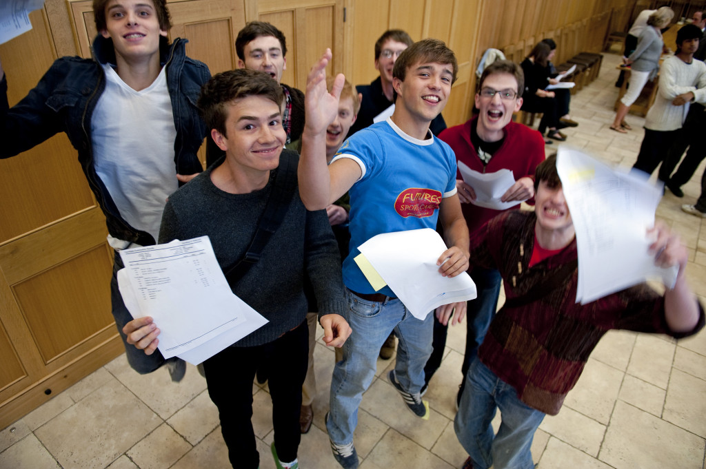 Students from Magdalen College School celebrate record-breaking high A Level results