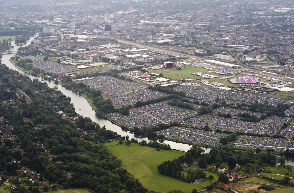 Reading Festival Aerials 2012