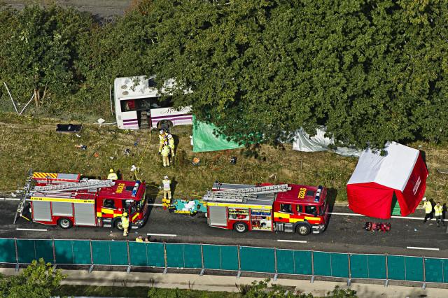 Aerial of Hindhead Coach Crash