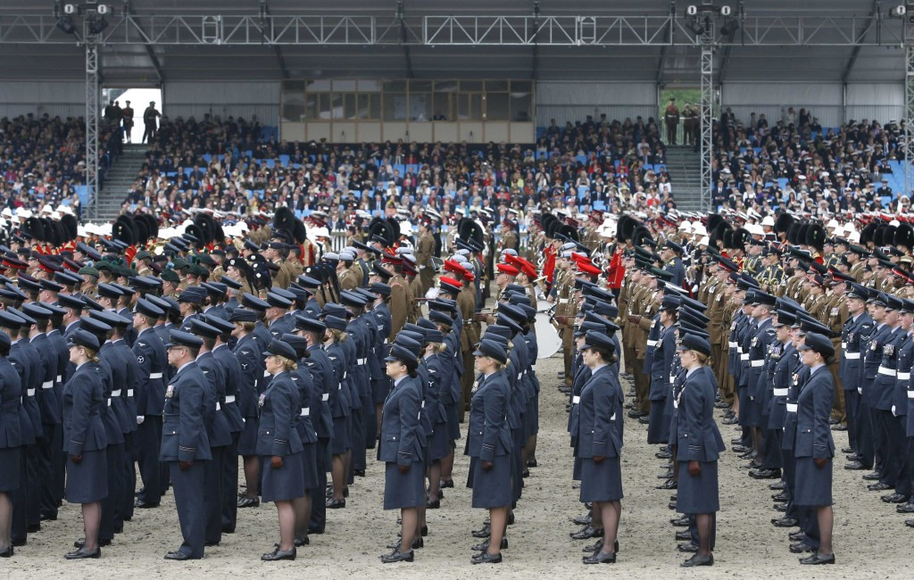 2500 servicemen and women parade in front of the Queen in Windsor