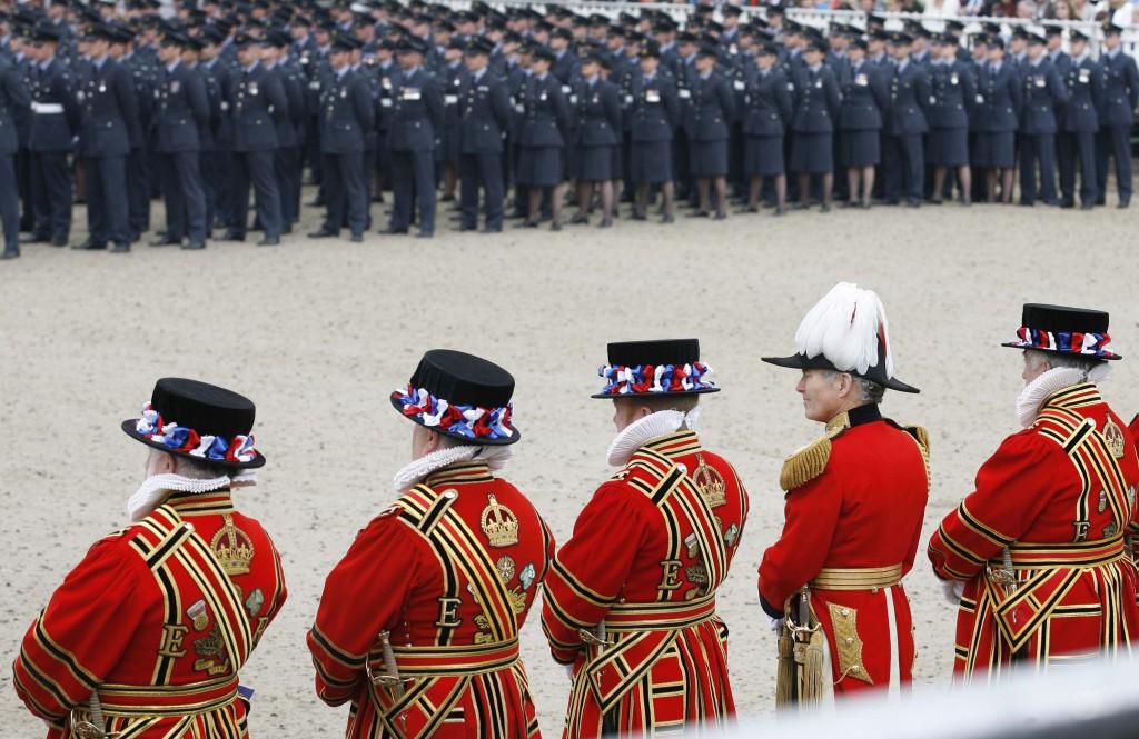 A tri-service Guard of Honour parade for the Queen in Windsor to mark her Diamond Jubilee