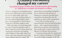 A chance encounter changed my career - Natasha Baranowski, Cosmopolitan
