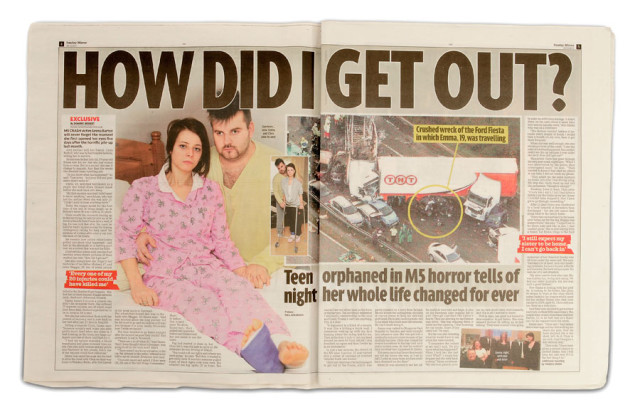 Emma Barton featured in the Sunday Mirror, December 18, 2011