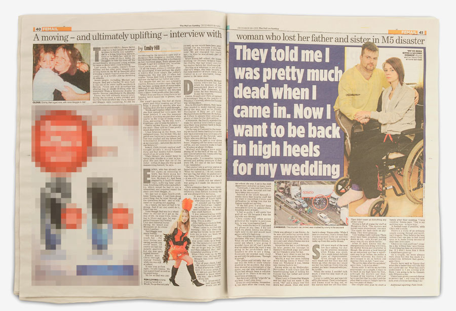 Emma Barton featured in The Mail on Sunday, December 18, 2011