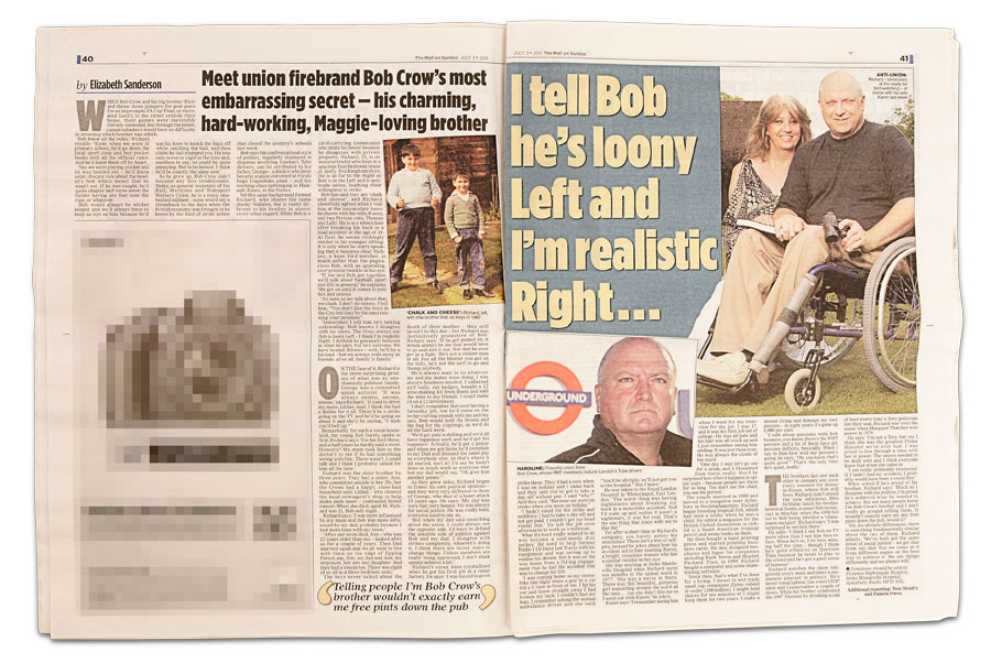 Richard Crow featured in The Mail on Sunday, July 3, 2011