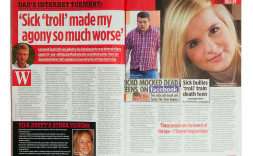 Andrew's story featured in Closer magazine