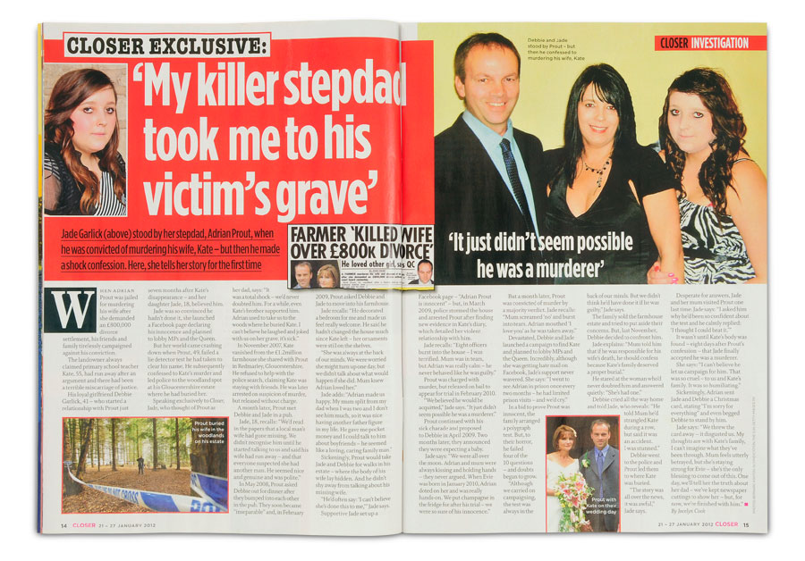 Jade Garlick in Closer magazine, 21 - 27 January 2012