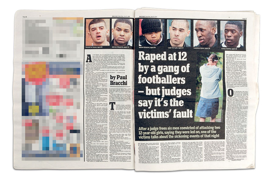 The story of 12 year old raped by a gang of footballers