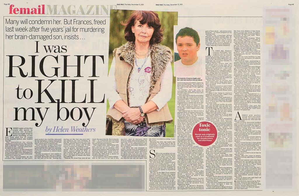 Frances Inglis - I was right to kill my boy