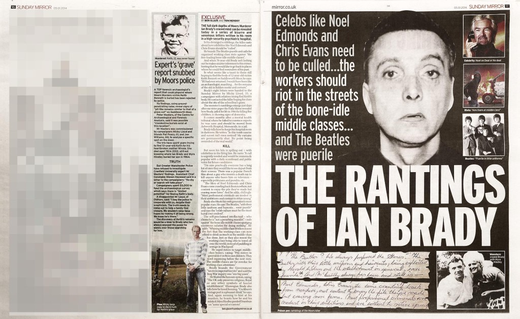 The Rantings of Ian Brady, Sunday Mirror 05/01/2014
